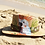 "Thumbnail: Hand painted Panama Hat ""White parrot"""