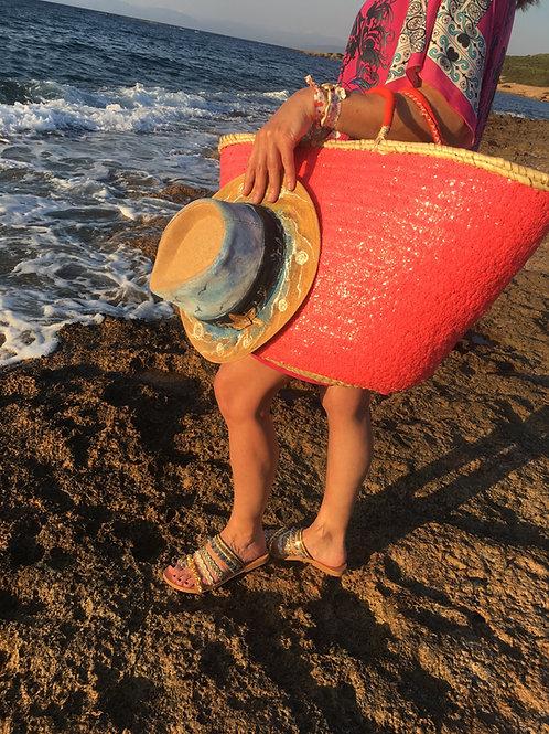 "Sequins Palm Basqet ""La Coqueta"""