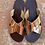 Thumbnail: Handmade Metallic  Mirror Leather sandals - HELIOS GOLD