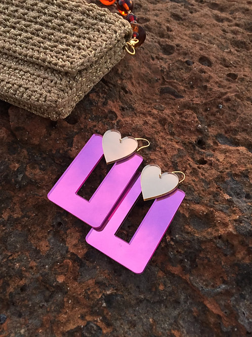 Fuchsia Earrings - LOVE ME DO
