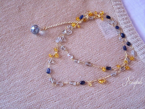 "Green Amethyst - Blue Iolite & Citrine - ""New York"""