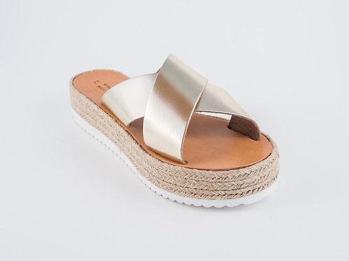 "Espadrilles-Wedges-Flatforms - Greek Leather sandals - ""ERATO"""