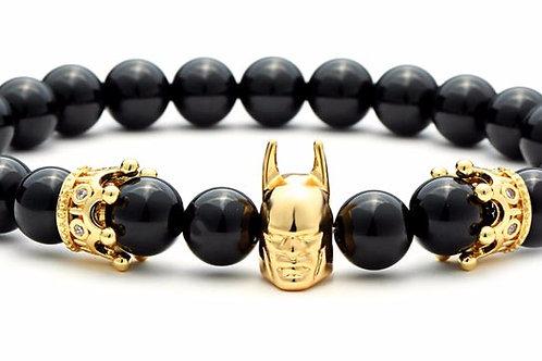 Black Onyx Unisex Bracelet - Batman