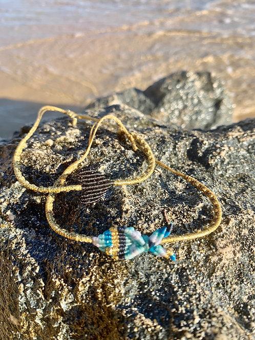 Macrame Woven Heart Bracelet - Heart