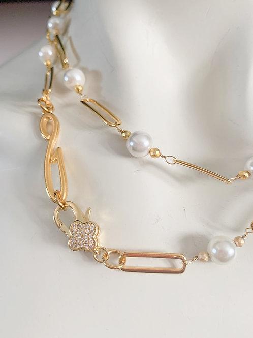 Long Lariat Mix Charm necklace
