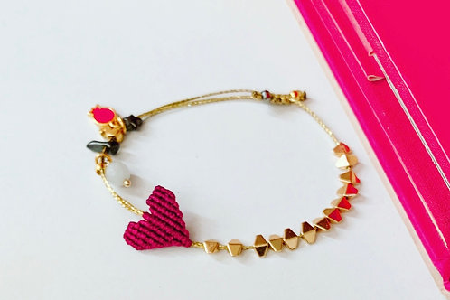 "2021 Good luck charm bracelet- ""Heart"""