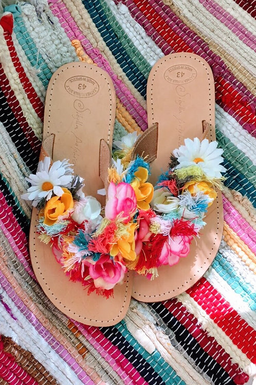 Greek Leather sandals - Blossom