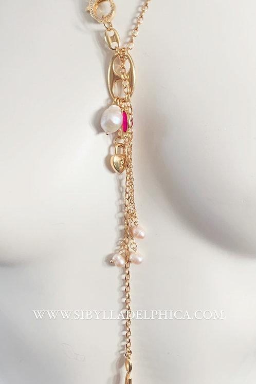 Long Lariat Mix Charm necklace - ISOLDE