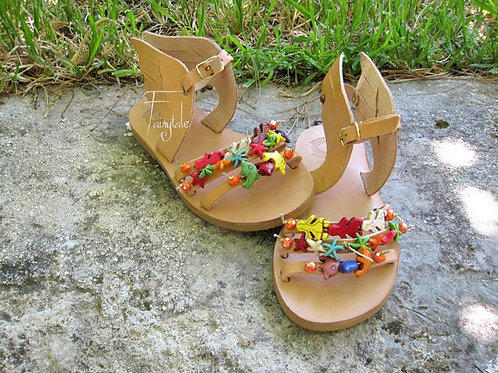 Sandals for kids with wings/ Baby sandals- Dolly
