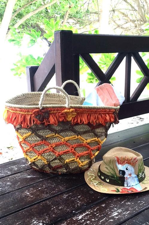 "Hand woven Palm Basket ""Frida"""