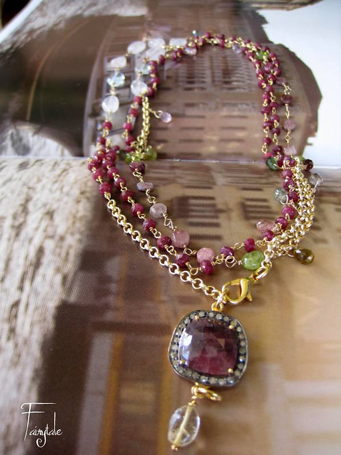 Sapphire & Diamonds, Amethyst, Rubies - Eleftheria