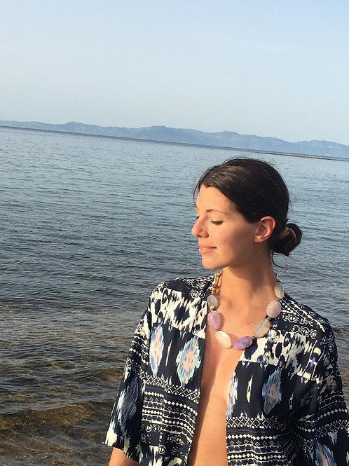 Brazilian Agate slices necklace - Saint Tropez
