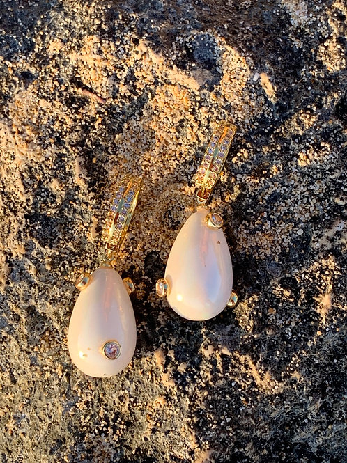 Pearl  Drop Earrings - CALYPSO