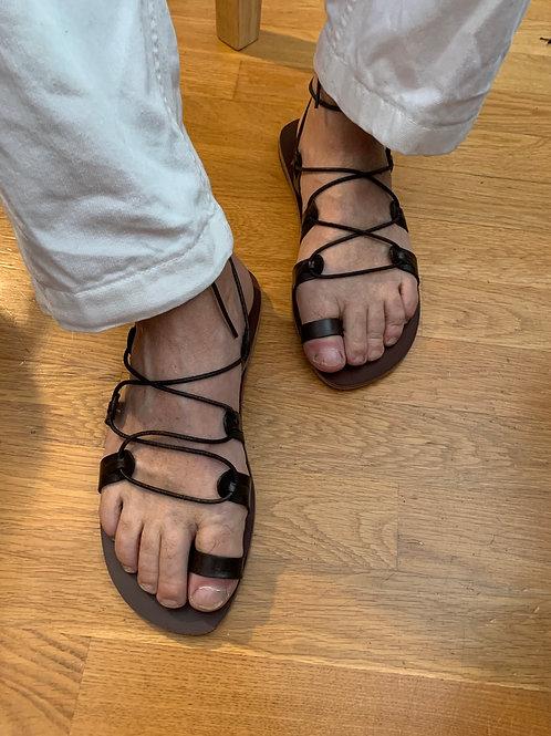 "Unisex Greek Leather sandals  ""ALEXANDER"""