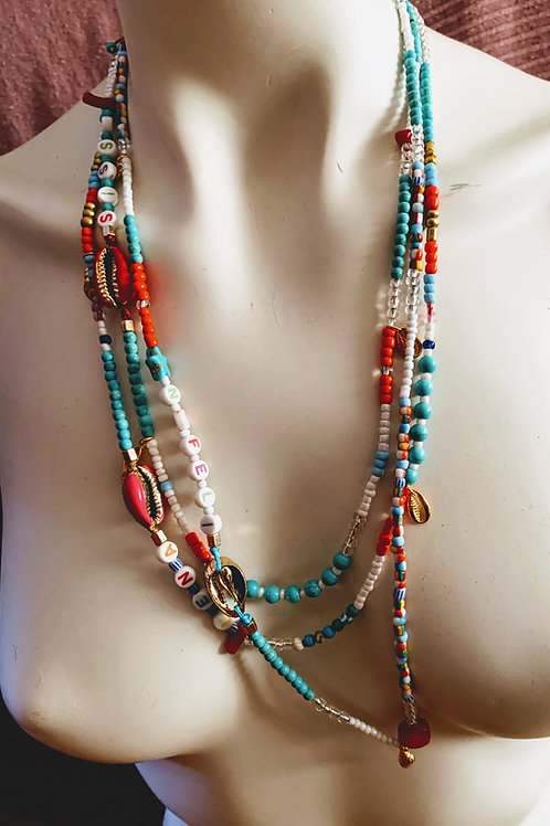 Beaded long necklace - Summer Lovers