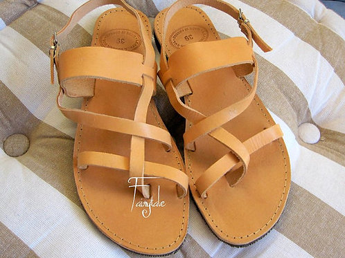 "Unisex Natural Greek Leather sandals  ""Demetra"""