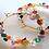 Thumbnail: Multicolored Gem wrapped hoops - Farfalina