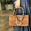 Thumbnail: Suede loomed leather shoulder bag - GAIA