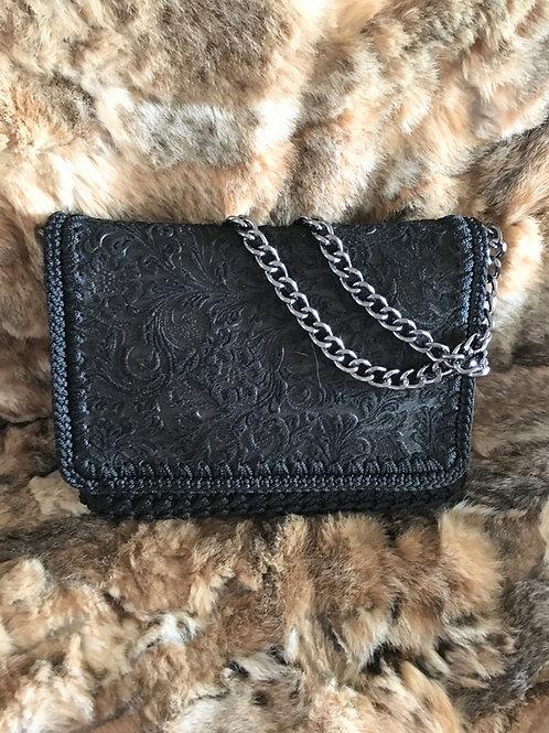 Hand Woven Leather Crochet Bag - ATALANTA