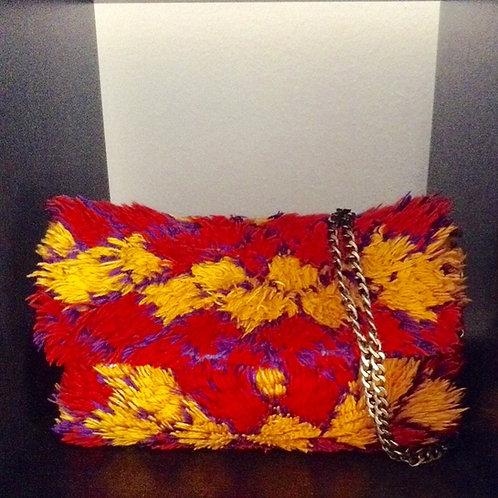 Morrocan Berber Crossbody Foldover  Clutch-Bag