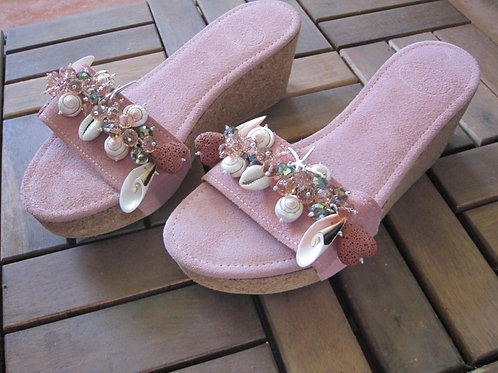 """Suede Pink Greek Leather - """"Daisy"""""""