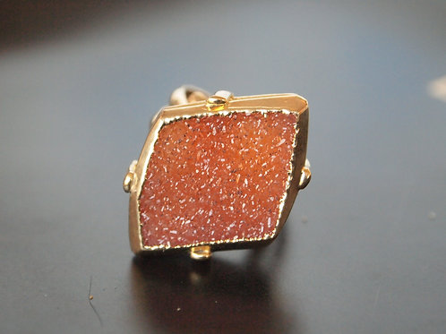 Carnelian Gold plated  Ring - ERIS