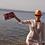 """Thumbnail: Multicolored Sequin Baguette - Clutch """"Goldfish"""""""