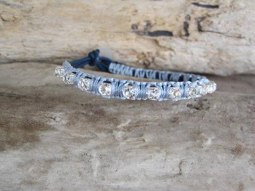 Swarovski Crystals Wrap Macrame Bracelet -Ice Queen