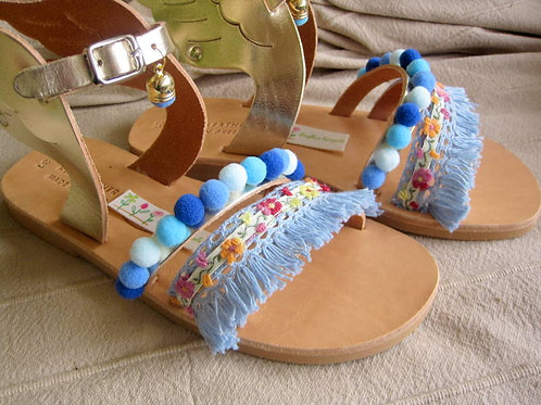"""Sandals for kids with wings Gold  """"Blue Belle"""""""