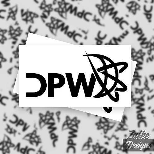Vinyl Decal Small Logo 2-Pack
