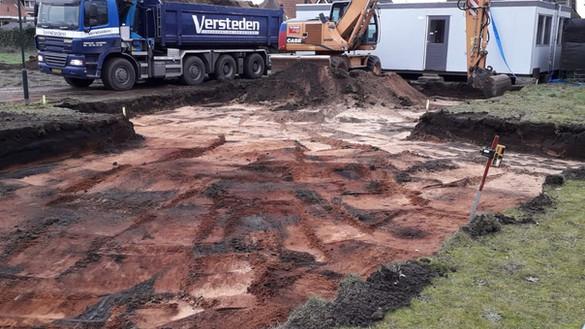 Bouwgrond uitgraven