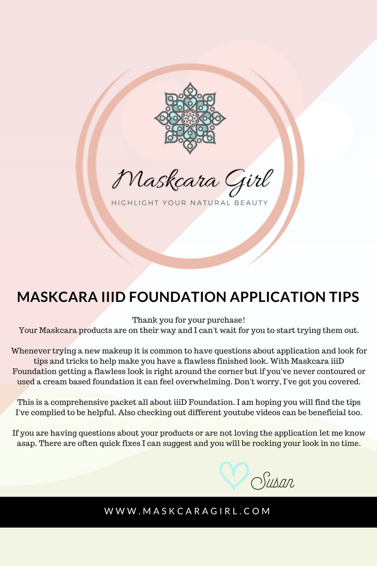 Maskcara Foundation Application Tips