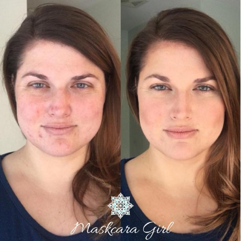 Maskcara Girl Before and After