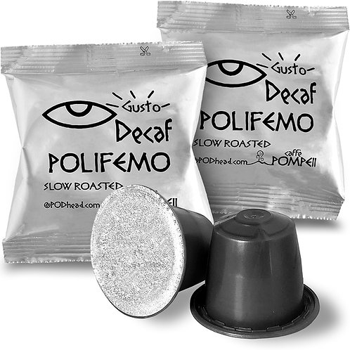 POLIFEMO Decaf Capsules for All Nespresso OriginalLine Machines