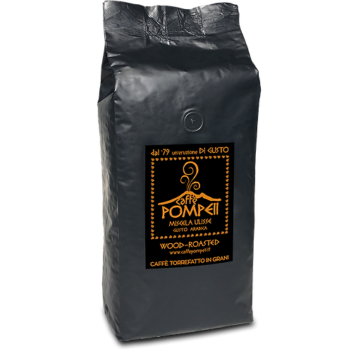 caffe POMPEI ULISSE - 100%ARABICA - Whole Bean Espresso Coffee 2.2 Lbs = 1Kg Bag