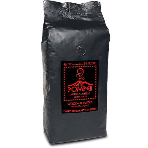 ACHILLE - FORTE - Whole Bean Espresso Coffee 2.2 Lbs = 1Kg Bag