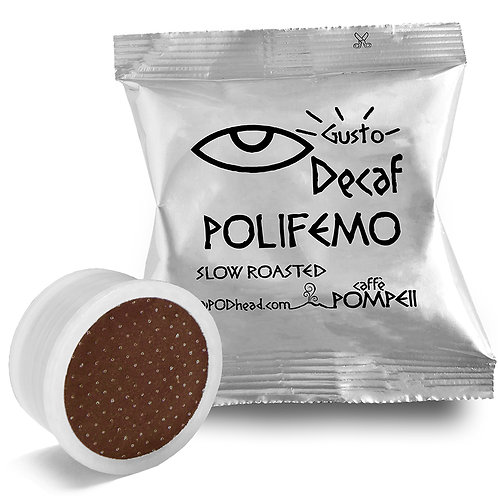 POLIFEMO Decaf Capsules for All Lavazza Espresso Point Machines