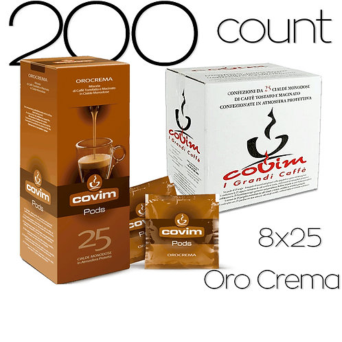 caffeCOVIM - OroCrema 8x25 Dispenser Boxes (200 count)