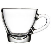 Glass coffee espresso cups