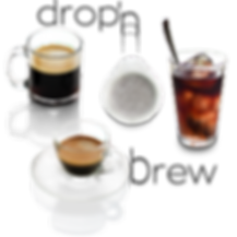Coffee Espresso ePOP pod machine drop and brew