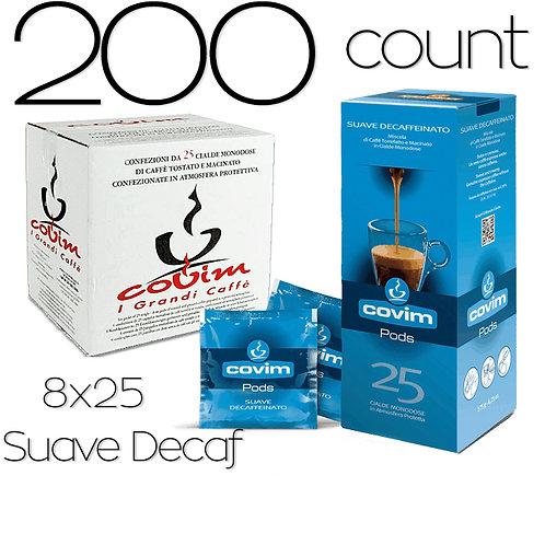 caffeCOVIM - SuaveDecaf 8x25 Dispenser Boxes (200 count)