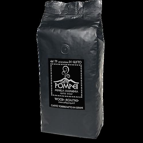 caffe POMPEII CASSANDRA Decaf Whole Bean Espresso Coffee, 2.2-Pound-1Kg Bag