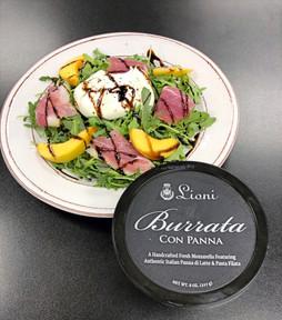 Arugala salad w/ peaches, Prosciutto & Burrata