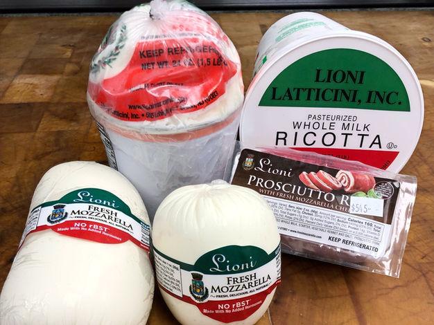 Fresh Mozzarella and Ricotta