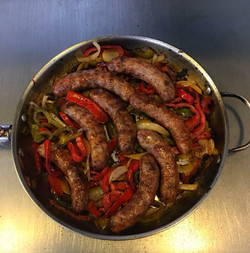 Sausage, Peppers & Onions