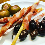 Breadstick wrapped with Prosciutto & Olives