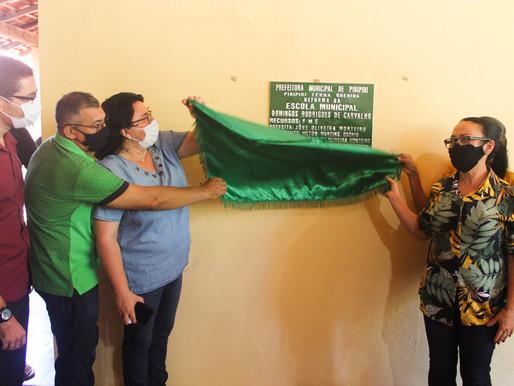 Prefeitura entrega reformas do posto de saúde e da escola da Comunidade São Luís