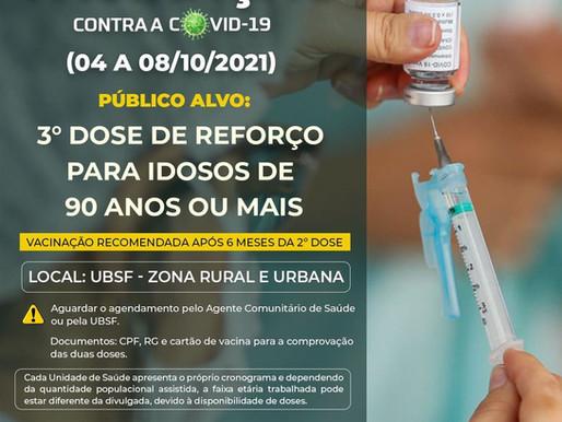 Vacinação em Piripiri beneficiará idosos com a terceira dose, público sem comorbidades e lactantes