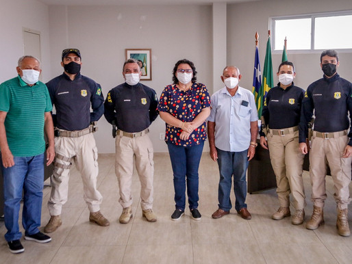 Prefeita Jôve Oliveira traça projeto de segurança pública com a Polícia Rodoviária Federal