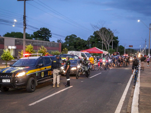 Passeio ciclístico encerra Semana Nacional do Trânsito em Piripiri